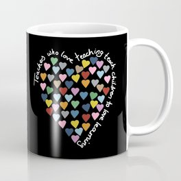 Hearts Heart Teacher Black Coffee Mug