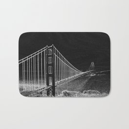 Golden Gate Abstract Bath Mat