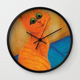 Cats_orange Wall Clock