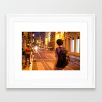 hat Framed Art Prints featuring HAT by Sébastien BOUVIER