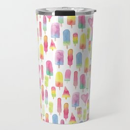 Watercolor Ice-cream and Popsicles Travel Mug