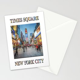 Times Square Sparkle (with typography) Stationery Cards
