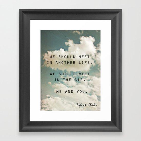 Sylvia: Air Framed Art Print