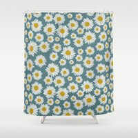 daisies Shower Curtains featuring daisies by kociara