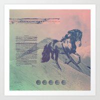 young & free Art Print