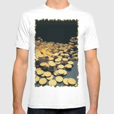Gold Coins Mens Fitted Tee White MEDIUM