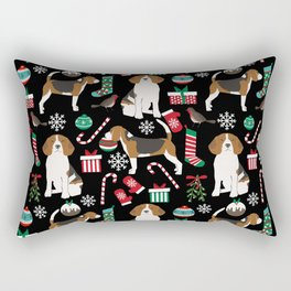 Beagle christmas gift wrap pillow phone case cute beagle dog design Rectangular Pillow