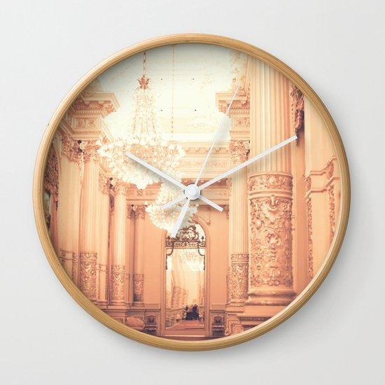 The Golden Room II Wall Clock