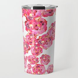 succulent pink splash Travel Mug