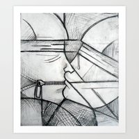 The blind Art Print