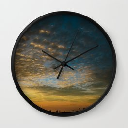 Viewing the Sunset Wall Clock