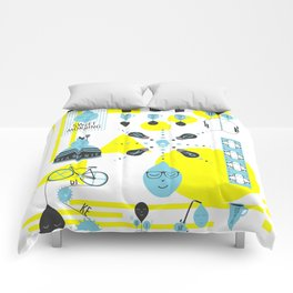 Sweet Morning Poster Comforters