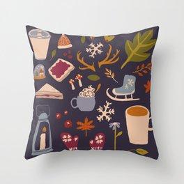 Winter Love Throw Pillow