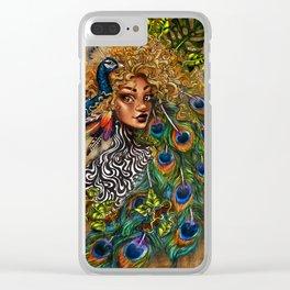 Jungle Queen Clear iPhone Case