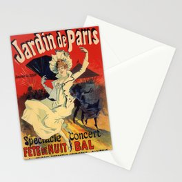 Jardin De Paris F Te De Nuit Bal 1896 By Jules Cheret | Reproduction Art Nouveau Stationery Cards