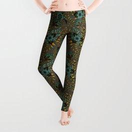 Boho Floral Pattern 17 Leggings