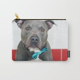 Handsome Blue Pitbull Carry-All Pouch