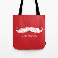 butcher billy Tote Bags featuring Crimson Butcher by Jason Rutherford