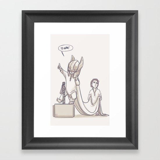 Doth Mother Know You Weareth Her Drapes? Framed Art Print