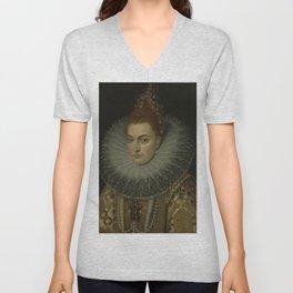 Frans Ii Pourbus  -  Isabella Clara Eugenia Unisex V-Neck