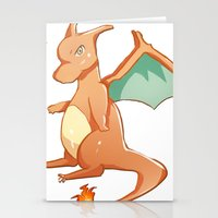 charizard Stationery Cards featuring Charizard by jimmy