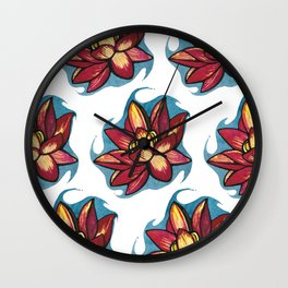 Lotos texture Wall Clock