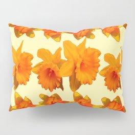 CREAM COLOR GOLDEN DAFFODILS GARDEN ART DESIGN Pillow Sham