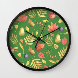 Leaves Are Falling This Fall Wall Clock