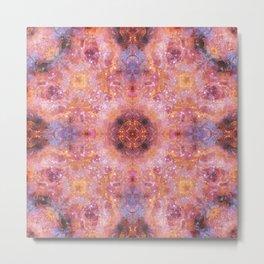 Cosmic Light Mandala Metal Print