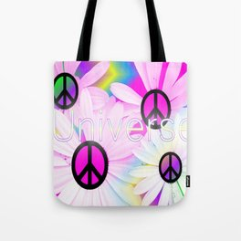 Flower Power Universe Tote Bag