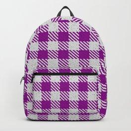 Dark Magenta Buffalo Plaid Backpack