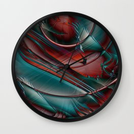 Multicolored abstract 2016 / 002 Wall Clock