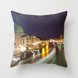 Goodnight Venice Throw Pillow