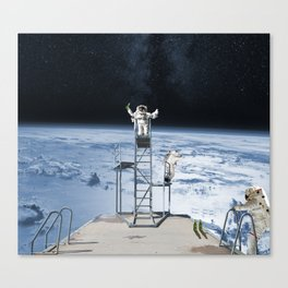 Space Schools Out for Summer Canvas Print