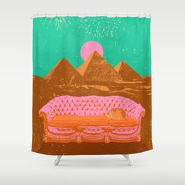 CHILL PYRAMIDS Shower Curtain