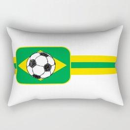 Brazil Flag Football Sketch Rectangular Pillow