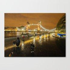 Tower bridge In Art Canvas Print