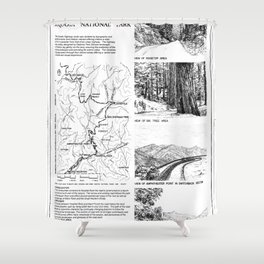 Road Design - Generals Highway, Three Rivers, Tulare County, CA Shower Curtain