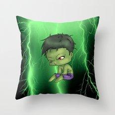 Chibi Hulk Throw Pillow