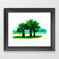 Tropical Tree Trio Framed Art Print