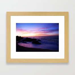 Beautiful sunrise in Los Cabos Mexico Framed Art Print