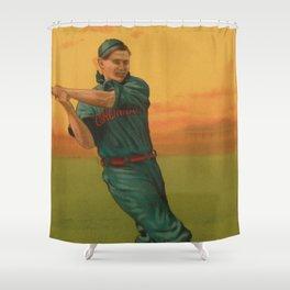 Vintage Backyard Baseball Player - Bescher - Cincinnati Shower Curtain