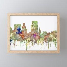 Boise, Idaho Skyline SG - Faded Glory Framed Mini Art Print