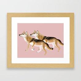 Totem Honshu Wolf Framed Art Print