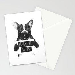 Rebel dog Stationery Cards