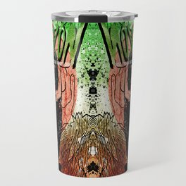 Mastodon Live in Berlin in Green and Red Travel Mug