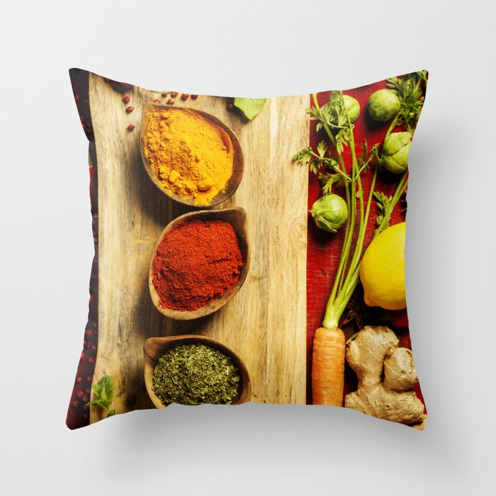 Herbs and spices Throw Pillow
