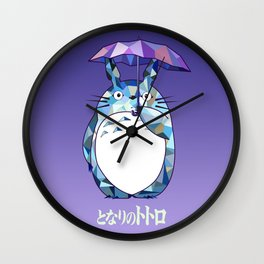 Kawaii Purple Ghibli Wall Clock