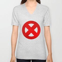 Circled X Unisex V-Neck