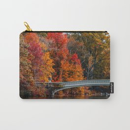 Autumn Color of Bow Bridge in Central Park New York City Carry-All Pouch